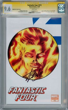 Fantastic Four #572 Retail Variant CGC 9.6 Signature Series Signed Stan Lee Marvel comic book